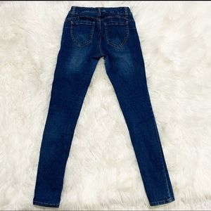 Wax Jean medium wash skinny jeans